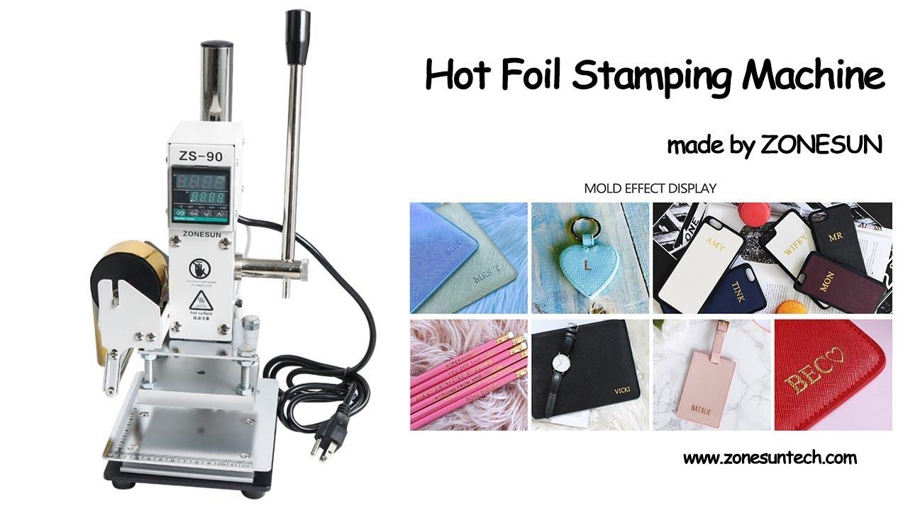 Foil Stamping Book Cover Diy ~ Zonesun hot foil diy make logo leather wood phone case manual