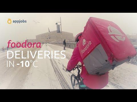 🚲 Foodora Deliveries in -10°C | AppJobs.com