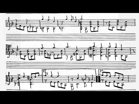 León Cardona: Gloria Beatriz (Bambuco) for Guitar (Arr. Edwin Guevara) - Score video