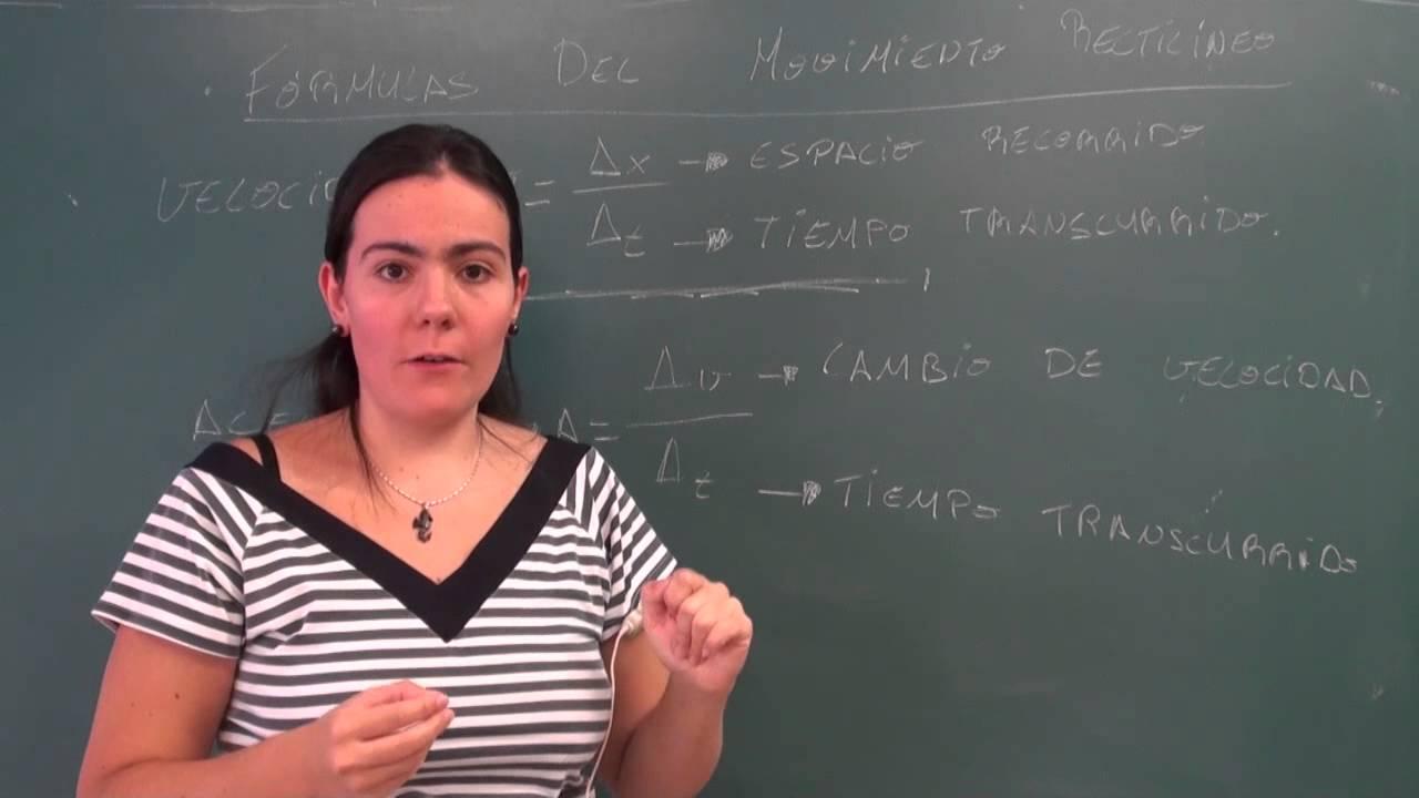 Fisica 4 ESO: El movimiento rectilíneo, conceptos y fórmulas - YouTube