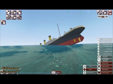 Sinking Minecraft Titanic (From the Depths)