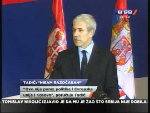 Tadic: Ne odustajte od Evrope
