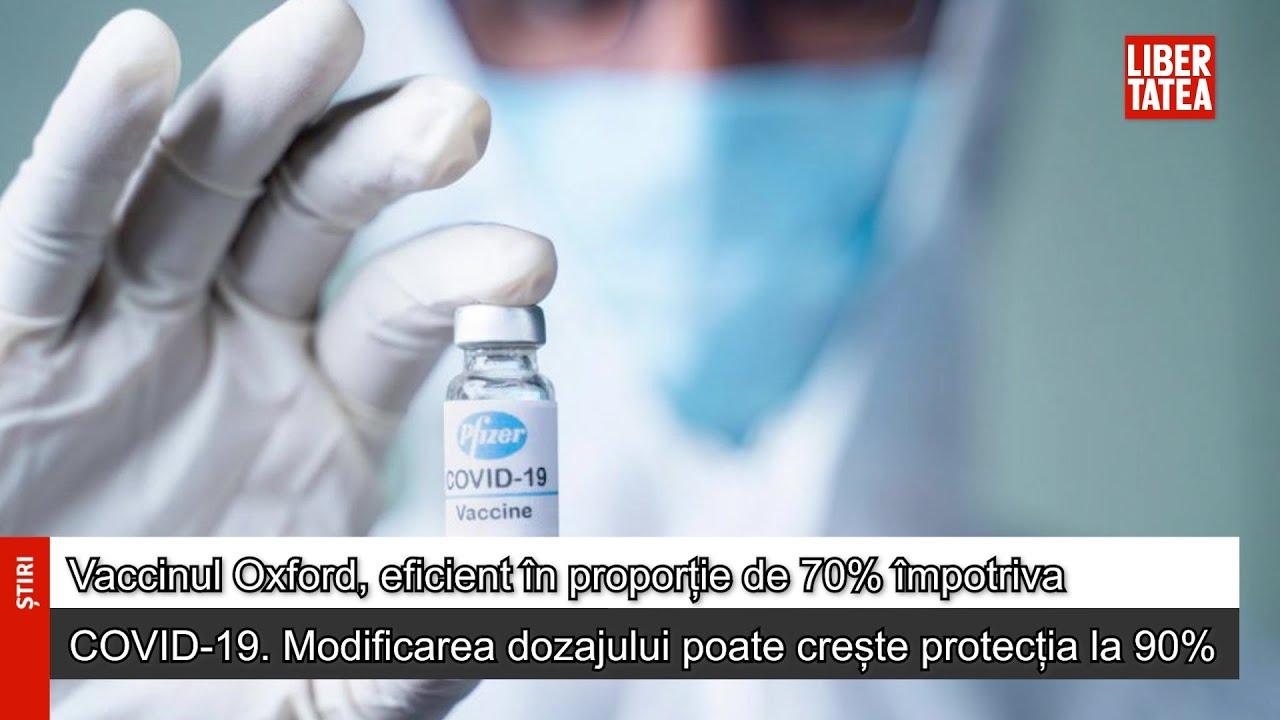 Vaccinul Oxford, eficient în proporție de 70% împotriva COVID-19. Modificarea...
