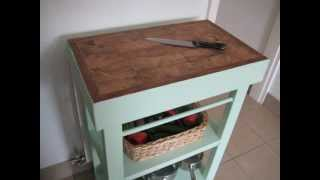 Shabby Chic Butchers Block Antique Green