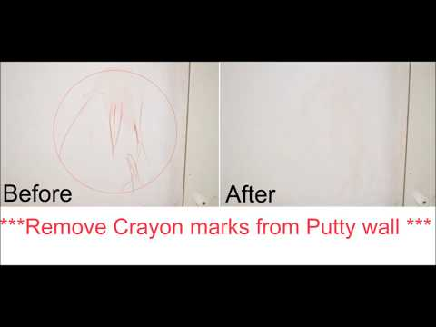 Clean Crayon marks from the Wall | Baby wipe