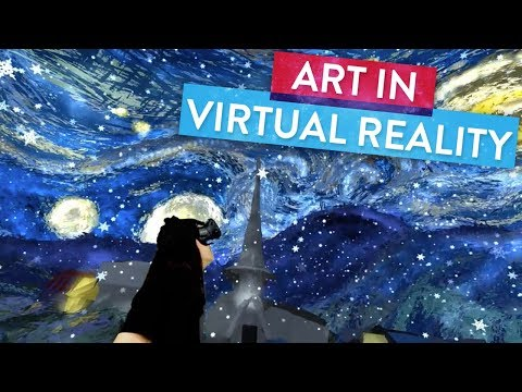 Step Inside Van Goghs Starry Night with Virtual Reality! | Art Attack Master Works
