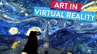 """Step Inside Van Gogh's """"Starry Night"""" with Virtual Reality!   Art Attack Master Works"""