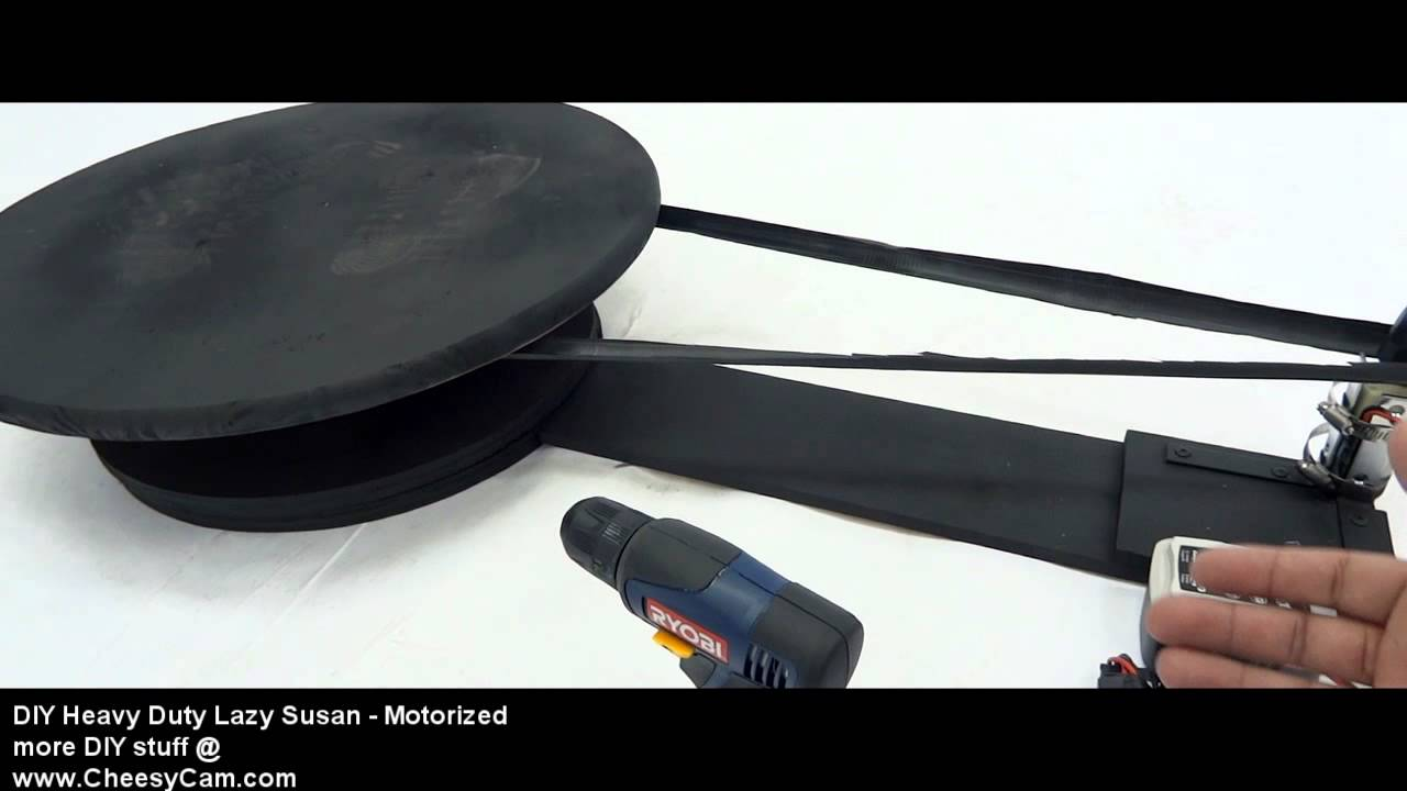 Diy motorized lazy susan youtube for Motorized turntable heavy duty