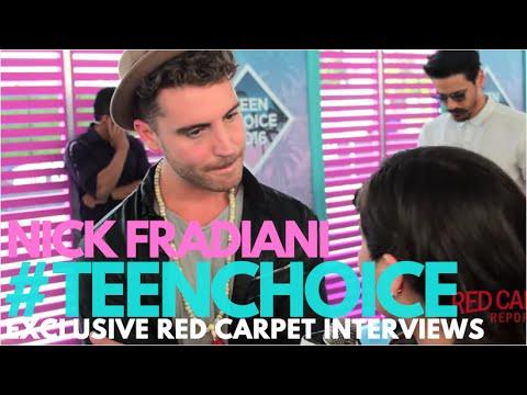 Nick Fradiani interviewed at the 2016 Teen Choice Awards Teal Carpet #TeenChoice