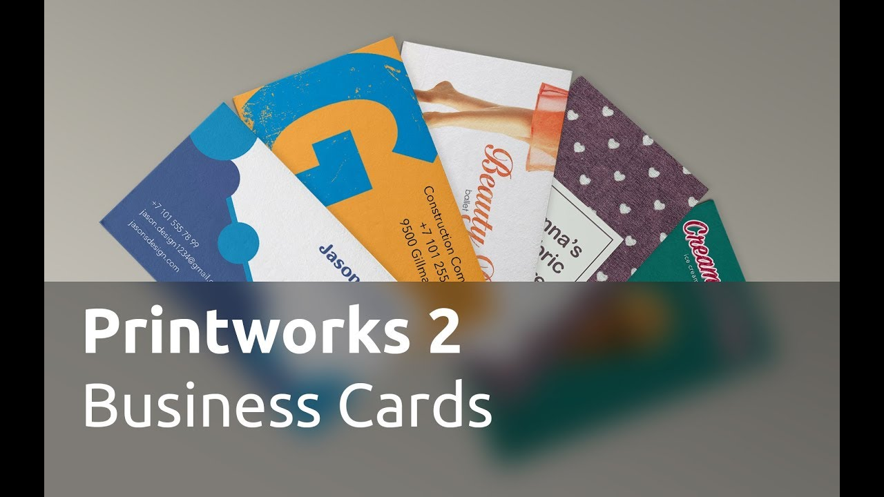 Printworks 2 Tutorials - Business Cards and Labels - YouTube