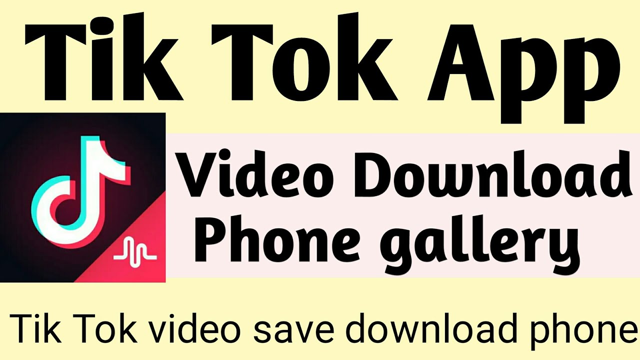 how to download tik tok video without app