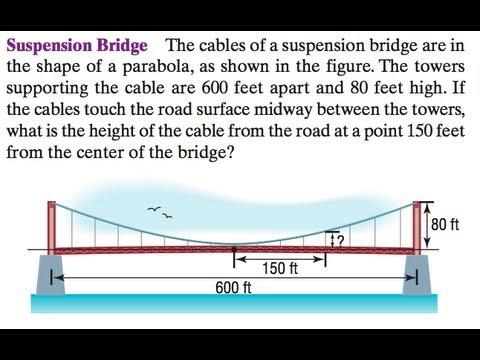 Trig and Suspension Bridge with parabolas