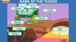 Naming Words - Noun Lesson for Kindergarten Kids