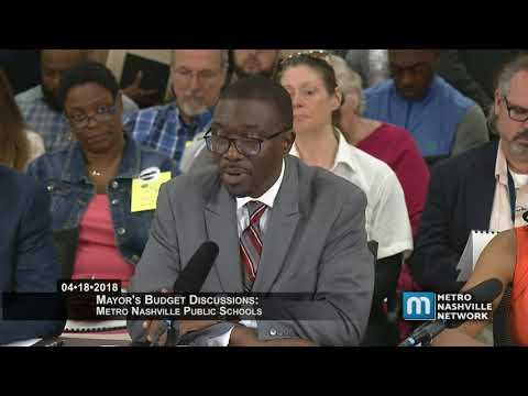 04/18/18 Mayor's Budget Discussions: MNPS