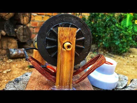 Experiment free energy generator 100% self running motor with copper coil magnet