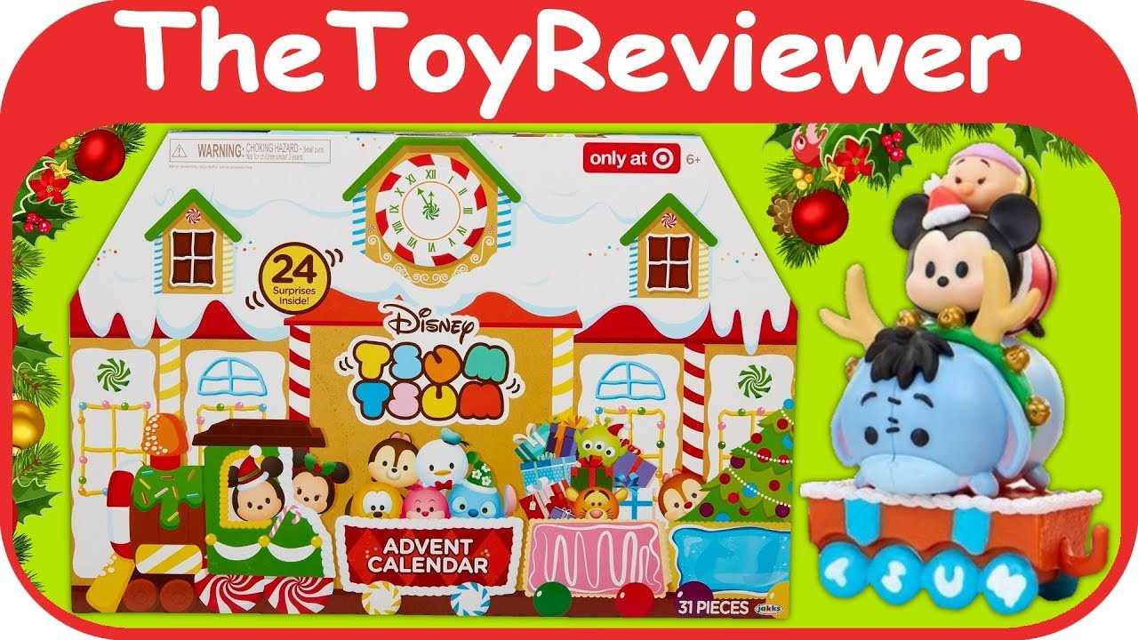 Disney Tsum Advent Calendar Christmas 2017 Target Exclusive Unboxing Toy Review TheToyReviewer