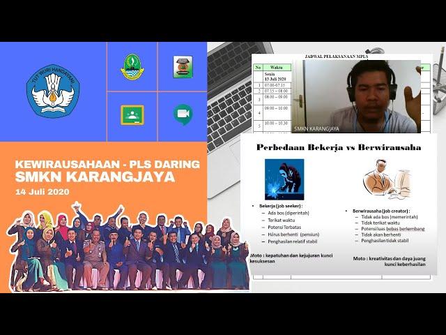Webinar Kewirausahaan - MPLS Daring SMKN Karangjaya