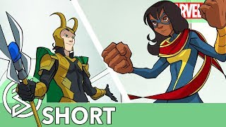 Ms. Marvel Faces Off Against Loki  Marvel Rising Ultimate Comic Ms. Marvel