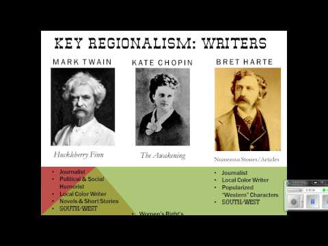 Regionalism Naturalism