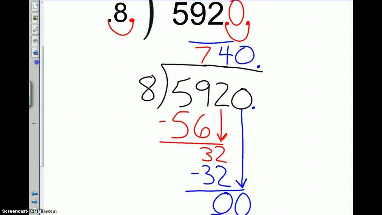 hight resolution of TBMS 7th Grade 1-4 \Dividing Decimals\ Examples - YouTube