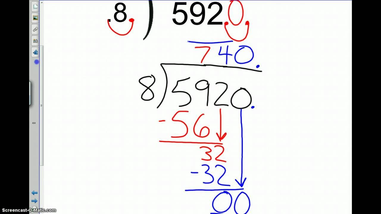 TBMS 7th Grade 1-4 \Dividing Decimals\ Examples - YouTube [ 720 x 1280 Pixel ]