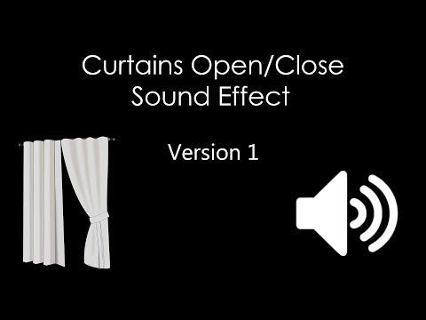 Curtains Open/Close Sound Effect: Version 1 - HQ Sounds