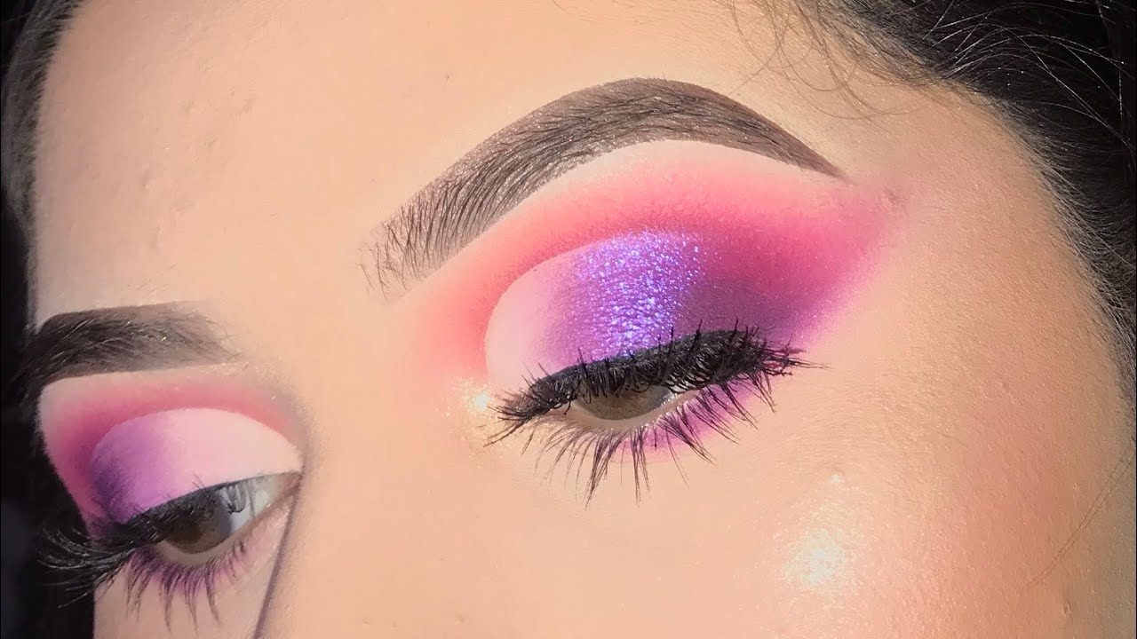 Purple Pink Cut Crease