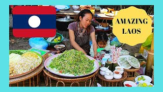 LAOS, the fascinating morning MARKET of LUANG PRABANG, very graphic images