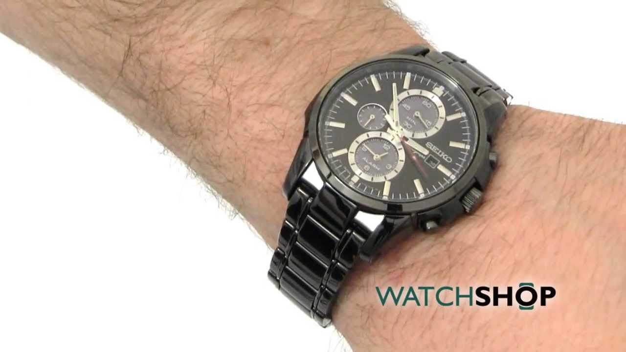 men s seiko alarm chronograph solar powered watch ssc095p1 men s seiko alarm chronograph solar powered watch ssc095p1