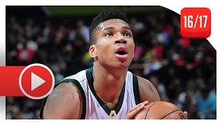 Giannis Antetokounmpo Full Highlights vs Hawks (2017.01.15) - 33 Pts, 8 Reb