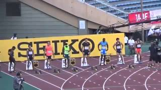 陸上 100m ジャスティンガトリン 桐生