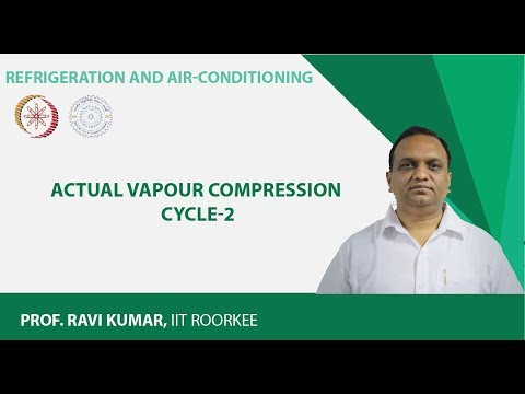 Lecture 11: Actual Vapour Compression Cycle-2