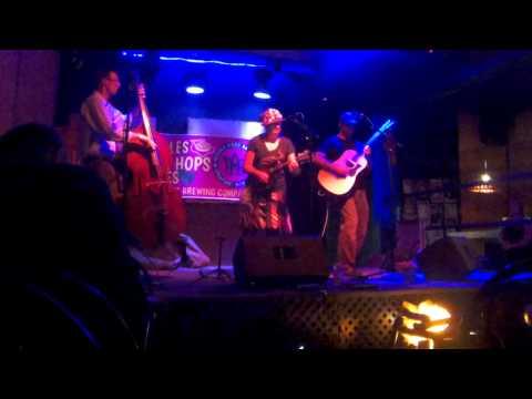Anna, Chris, and Blake at Funk'n'Waffles Downtown 8-25-15