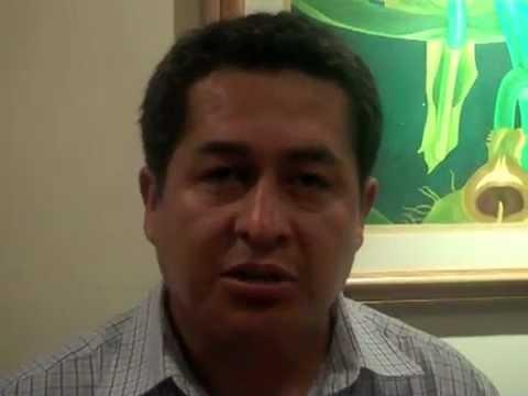 Roberto Sanchez Saravia about visiting the Simon Bolivar school