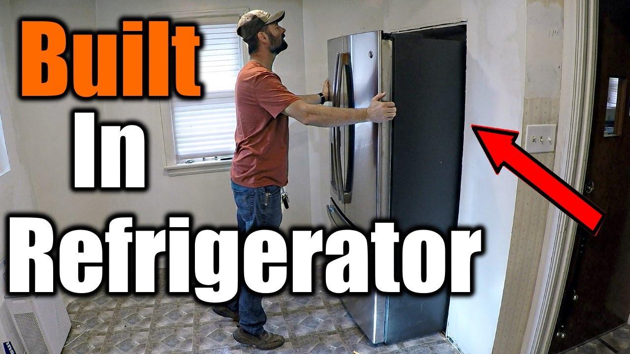 Recess A Refrigerator Into Wall