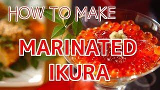 How to Make Marinated Ikura (Salmon Roe)【Sushi Chef Eye View】