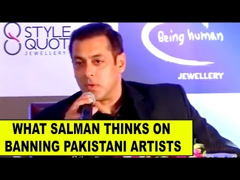 What Salman Khan thinks on Pakistani artist ban in Bollywood