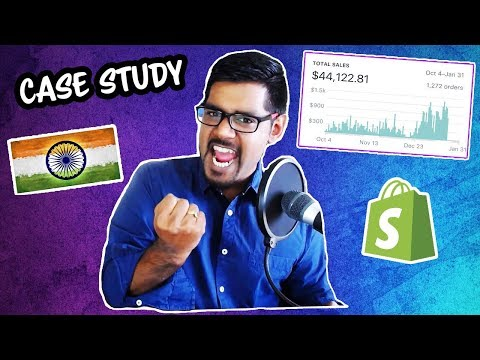 Shopify Case Study: $50,000 Dropshipping From India (Shopify + AliExpress) thumbnail