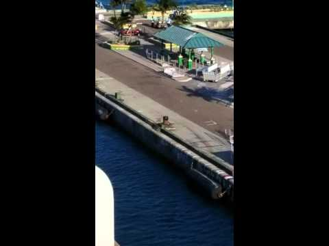 Two people miss cruise ship in Nassau & her kids are onboard!