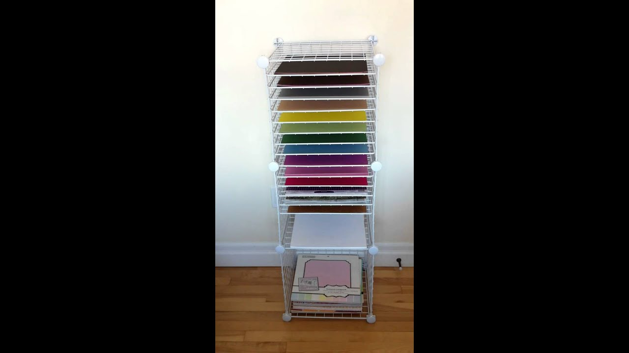 Homemade 12x12 Paper Storage Shelving - YouTube