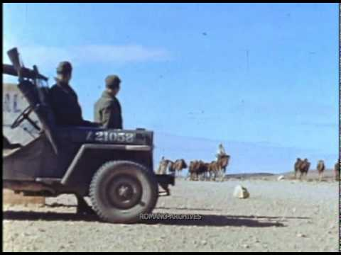 1942 Tunisia - Watching the Camels Passing By...