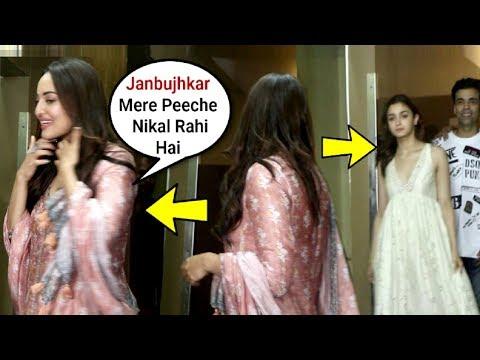 Sonakshi Sinha Ignores Alia Bhatt At Kalank Screening