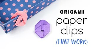 Origami Paperclips Tutorial (they work)