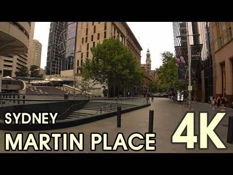 【4K UHD BEAUTIFUL SYDNEY AUSTRALIA】Walking Through Sydney CBD Martin Place