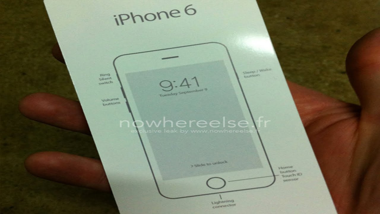 iphone 6 manual new iphone 6 leaked manual 11358