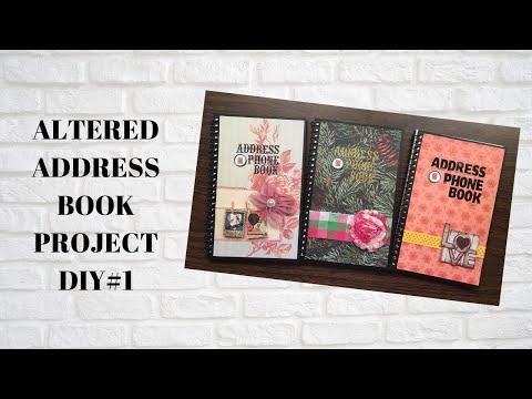 ALTERED ADDRESS BOOK AND PHONE BOOK DIY#1-pangkabuhayan