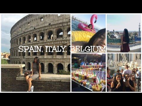 Summer Travel Vlog | Rome, Barcelona, Donostia, Ostend...