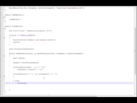 SourceMod Coding Tutorial 28: Reading plain text files, giving files our own format, string replace