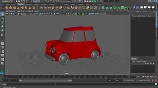 MAYA урок Моделирование мультяшного автомобиля часть 5