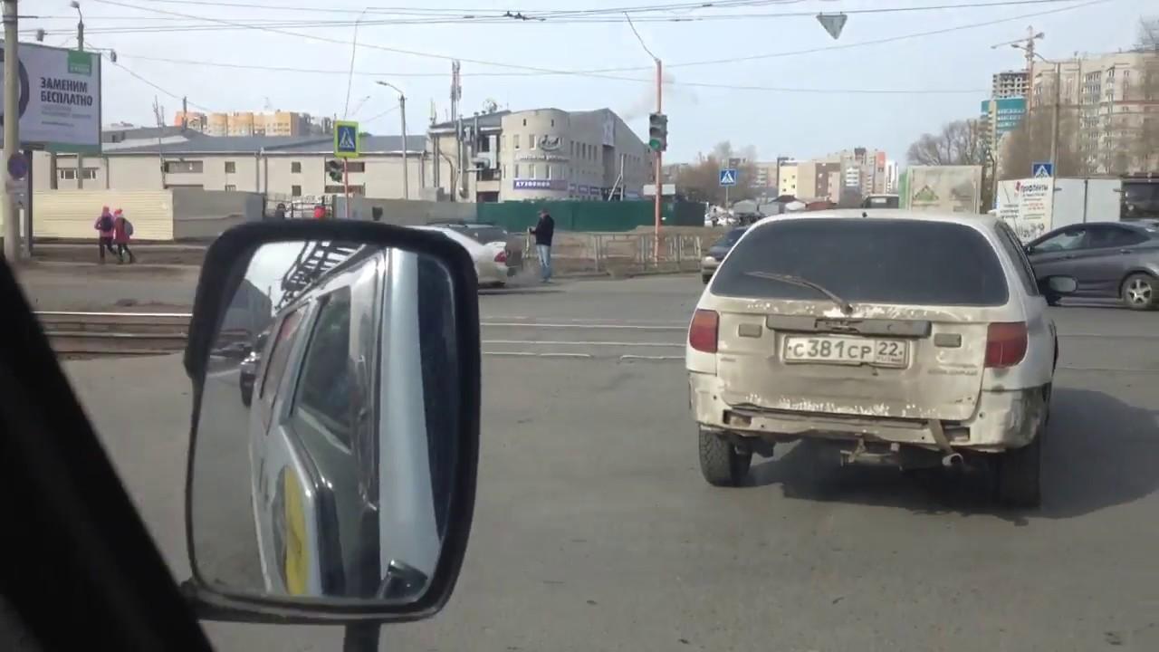 ДТП. Барнаул ул. Попова - Взлетная. 03.04.2017.